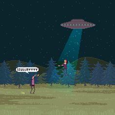 animated gif pixel art UFO Dana Scully x-files Fox Mulder Pixel Art, Vaporwave, Animation Pixel, The X Files, Arte Alien, 8 Bit Art, Animated Gifs, Aliens And Ufos, E Mc2