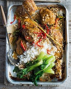 ''This easy midweek dinner has all the flavours of satay, minus the hassle of using skewers and chargrilling. The longer you marinate the chicken, the more flavourful your dish will be.'' – the late food writer Valli Little