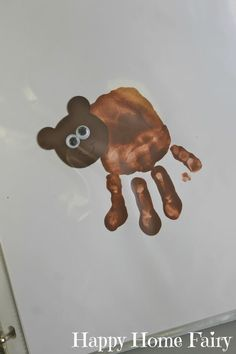 Brown Bear, Brown Bear Handprint Project - Happy Home Fairy Bear Activities Preschool, Preschool Colors, Teaching Colors, Preschool Crafts, Bear Theme Preschool, Brown Bear Activities, Infant Activities, Toddler Art, Toddler Crafts