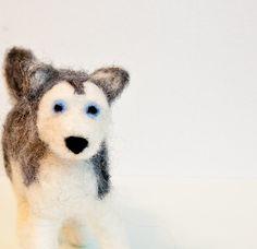 Siberian husky ornament Needle felted dog Dog by CraftsByKeri, $32.00
