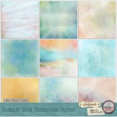 Ramblin Rose Watercolor Papers - reminiscent of the Painted Desert #snickerdoodledesigns