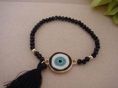 Gorgeous Black Handmade Evil Eye Tassel por ForThatSpecialDay