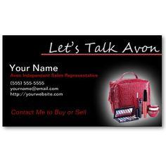 Custom Avon Business Cards Avon and Avon sales