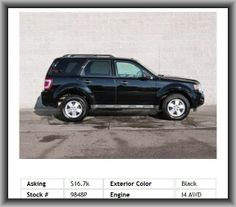 2010 Ford Escape XLT SUV   Digital Audio Input, Diameter Of Tires: 16.0, Remote Activated Exterior Entry Lights, Overall Length: 174.7, Independent Rear Suspension, Rear Leg Room: 35.6, Leather Steering Wheel Trim, Remote, External Temperature Display, Fuel Capacity: 16.5 Gal., Privacy Glass: Deep, Curb Weight: 3, Electrochromatic Rearview Mirror,