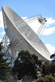 A general view shows the 70 metre dish that is tracking NASA's Mars science laboratory car-sized rover Curiosity at the Canberra Deep Space Communication Station at Tidbinbilla in Canberra on August 6th, 2012