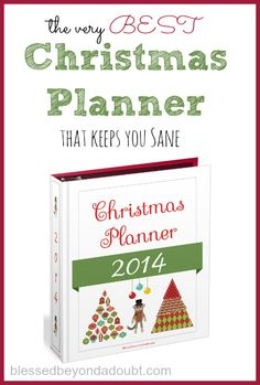 I have used this Christmas planner for 7 years and it keeps me totally sane and organized during the holidays.