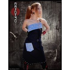 Japanese Apron Dress Dragonflies Punk Lolita