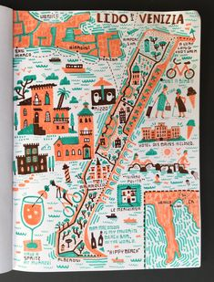 Illustrated Map the Lido of Venice by Nate Padavick