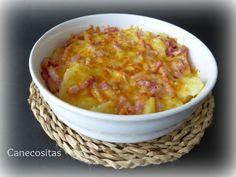 Patatas con queso y bacon