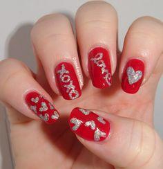 Dipped in Lacquer hearts VALENTINE #nail #nails #nailart
