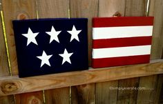 Flag Canvas Art! Maybe even two additional canvas of stripes for a bottom row...