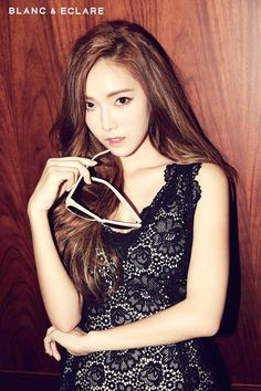 Jessica Jung posing in a photo shoot for BLANC & ECLARE Magazine October Issue 2014.