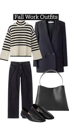 Fall Outfits For Work, Cool Outfits, Casual Outfits, Fashion Outfits, Fashion Pics, Office Outfits, Capsule Wardrobe Work, Minimalist Wardrobe, Fashion Books