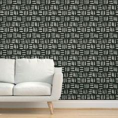 Triad Removable Wallpaper - Spoonflower Memphis, Shelf Liners, Perfect Wallpaper, Design 24, Custom Wallpaper, Wall Treatments, Textured Walls, Installation Art, Spoonflower