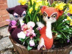 Remmyé Renard crochet fox amigurumi couple by Qiko, via Flickr