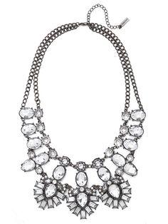 Crystal Feather Bib Necklace | BaubleBar