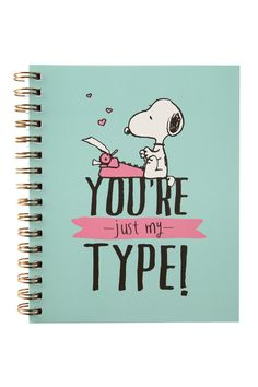campus a5 notebook   Cotton On Oh Snoopy!