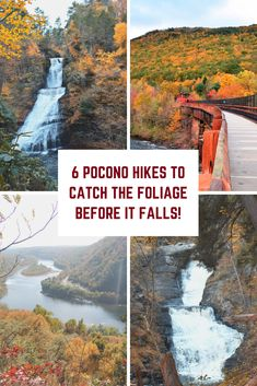 Experience these top six hikes in the Poconos to view the fall foliage before it falls! Day Trips In Pa, Camping And Hiking, Hiking Trails, Pocono Mountains, Vacation Destinations, Vacations, Us Road Trip, Best Hikes, Future Travel