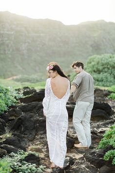 Photography: Matthew Ree - matthewree.com   Read More on SMP: http://www.stylemepretty.com/destination-weddings/2015/04/03/bohemian-wedding-inspiration-in-hawaii/