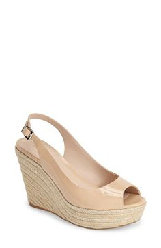 Pelle Moda 'Colton' Slingback Espadrille Wedge (Women) available at #Nordstrom