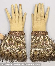 Gloves in all their glory: Embroidered gloves, c.1595-1605 (Courtesy of The Glove Collection Trust) Buckingham Palace's latest exhibition unveils immaculate Tudor and Stuart hand-me-downs.