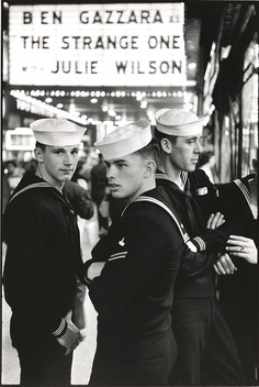 1957. U.S. Sailors...around the time my Dad served in the Navy!