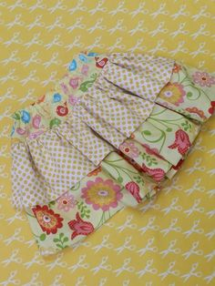 Twirl skirt with Riley Blake's adorable fabric! Our best selling little girls skirt pattern. Super easy and fun to make! via Tumblr
