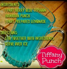 Tiffany punch - baby shower use pink flavored drink for a girl
