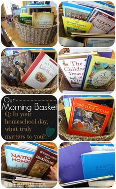 """The Unplugged Family: Our Morning Basket (encouraging meaningful Family Time and answering the question, """"What matters most in your homeschool day?"""")"""