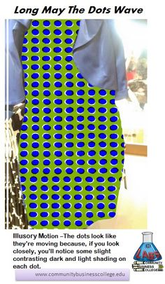d7f728c11421 Each dot has a slightly differently position light and dark shading so when  viewed together, · Optical Illusion DressHome ...