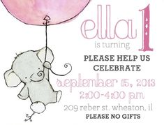 Little and Lovely: Ella's Elephant Themed First Birthday