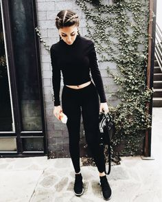 All black minimal and chic