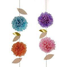 Pom Pom Garland Flower Kit by Meri Meri  Princess by SociallySweet