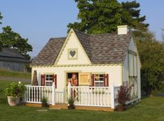 My kids will need a cute playhouse like this! lol Derrick would kill me
