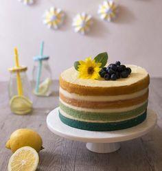 Ombre cake citron coco (layer cake en dégradé) - Ôdélices : Recettes de cuisine faciles et originales !