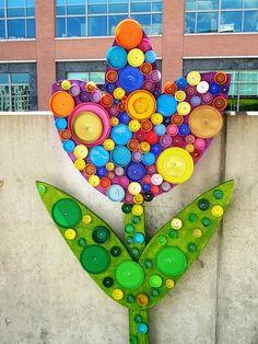 Artesanato com Reciclagem: 10 idéias de flores com tampinhas de garrafas