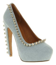 Jeffrey Campbell Madame High Heel Blue Denim - High Heels