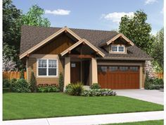 Craftsman House Plan with 1529 Square Feet and 3 Bedrooms from Dream Home Source | House Plan Code DHSW076492