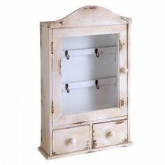 Caja 2 cajones madera crema. #Muebles y #decoracion #vintage en nuryba.com tu #tienda de muebles y decoracion #online de #interiores en #Madrid