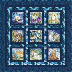 Be Pawsitive is a fun collection featuring cute kitties playing in the garden with butterflies and birds. You will have a 'pawsitively' good time with this collection. Cat Quilt Patterns, Fabric Patterns, Cat Fabric, Fabric Art, Panel Quilts, Quilt Sizes, Robert Kaufman, Coordinating Fabrics, Quilting Projects