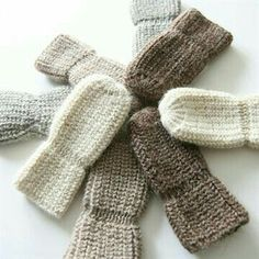 ella's wool - I like the idea of the mitten being tighter just at the wrist
