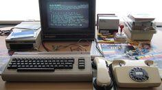 Commodore 64 e adattatore telematico