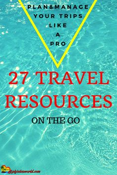 27 Travel Resources on the Go and Sites to Help You Save Money while keeping a eye on your business – Pkjulesworld #travelresources http://www.pkjulesworld.com/27-travel-resources-on-the-go-save-money/