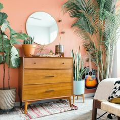 Find modern furniture and home decor featuring inspiring designs and colors at your Bellevue Gateway west elm furniture store in Bellevue, WA. Pink Bedroom Walls, Peach Bedroom, Bedroom Orange, Accent Wall Bedroom, Pink Room, Pink Walls, Home Bedroom, Master Bedroom, Peach Walls
