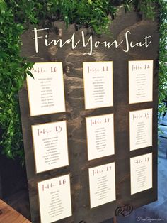 diy wedding seating chart - Google Search