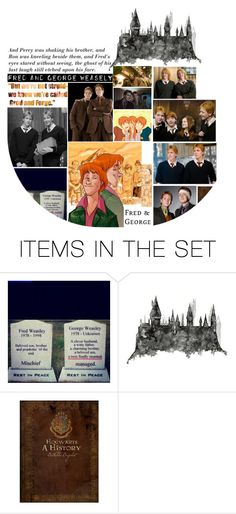 """""""//Gred and Forge//"""" by cuckookiki ❤ liked on Polyvore featuring art, harrypotter and fredandgeorge"""