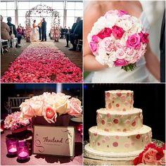 pink wedding color idea; photo: A' LaVie Photography