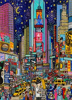 New York Discover Times Square ART- Times Square print-Times Square Gift-New York gift-New York Art-Times Sq Art-New York Art Gift-New York Times Square print City Painting, Oil Painting Abstract, New York Painting, Selling Art Online, Online Art, Print Image, Abstract City, Square Art, New York Art