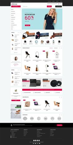 Furnimart - The Best Furniture Store Template Theme Forest, Computer Theme, Website Themes, Website Designs, Ecommerce Website Design, Letterhead Design, Web Layout, Photoshop, Web Design Inspiration