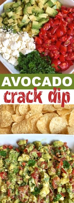 Avocado Crack Dip is part of Finger foods easy - Quick and easy avocado crack dip recipe The BEST make ahead dip you will ever make! Serve it up with chips for a party appetizer everyone will love Tasty Vegetarian, Clean Eating Snacks, Healthy Eating, Avocado Hummus, Guacamole Dip, Avacado Dip, Keto Avocado, Avocado Toast, Avocado Salad